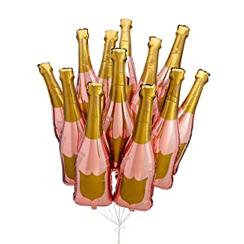 Paper Confetti Champagne Bottle Balloon Rose Gold Party Decorations 21st Birthday Engagement