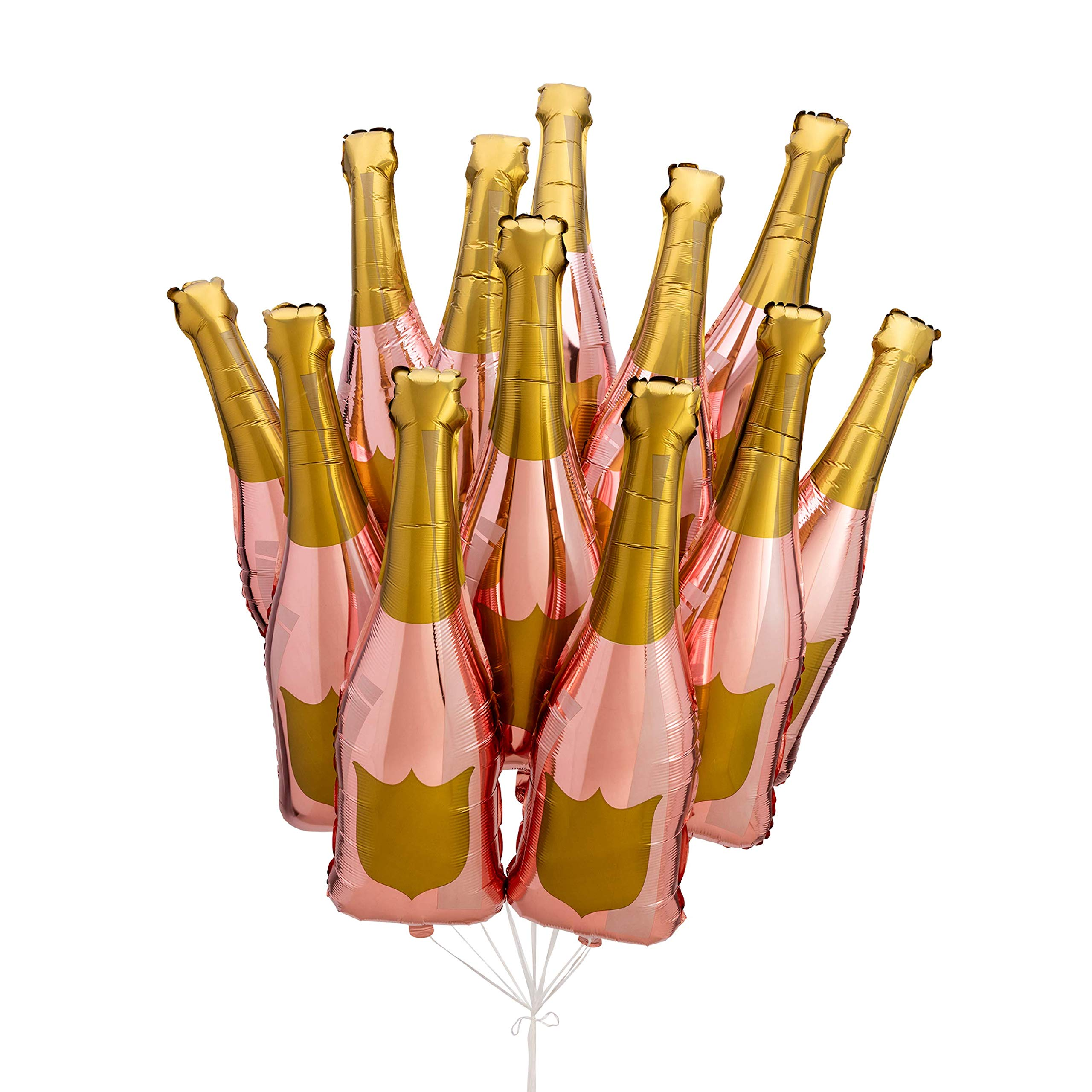 Paper Confetti Champagne Bottle Balloon, Rose Gold Party Decorations, 21st Birthday, Engagement Party Decorations, Bachelorette Party Decorations, Bridal Shower Decorations, Champagne Balloon (12)