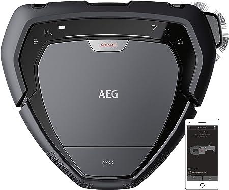 AEG RX9-2-4ANM Robot Aspiradora Visión 3D, Cepillo Motorizado Ancho de 22cm,Batería 40min, Gran Filtración,Escala 2,2cm, 75dB,Display LED,WiFi, APP,Autonomía: 70 min (Carga 60 min) - Serie 2,0.7L,Gris: Amazon.es: Hogar