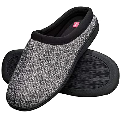 dae2230992b Hanes Men s Memory Foam Indoor Outdoor Clog Slipper Shoe with Fresh IQ  (Mens XXX Large