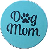 """Dog Mom Paw Print Car Auto Coaster Absorbent Stone 2.5"""" Cup Holder"""