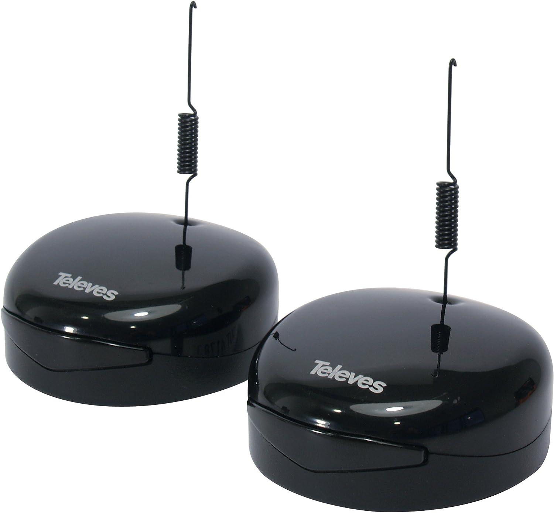 Televes Digidom - Emisor + Receptor Universal, Color Negro