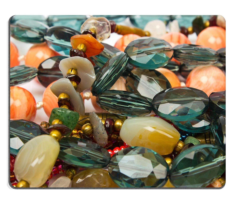 liili Mouse Pad de goma natural mousepad ID 13255715/Semi collar de piedras preciosas de imagen en el fondo blanco diferentes tipos de Neckless