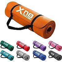 Xn8 Yogamatta Träningsmatta 15mm Halkfri fitness matta Physio gymnastikmatta för pilates fitness och träning 183 x 61 x…