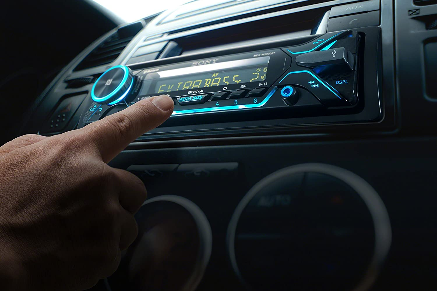 Disco by manufacturer Sony MEX-N5200BT CD Receiver with Bluetooth external microphone and SiriusXM Ready