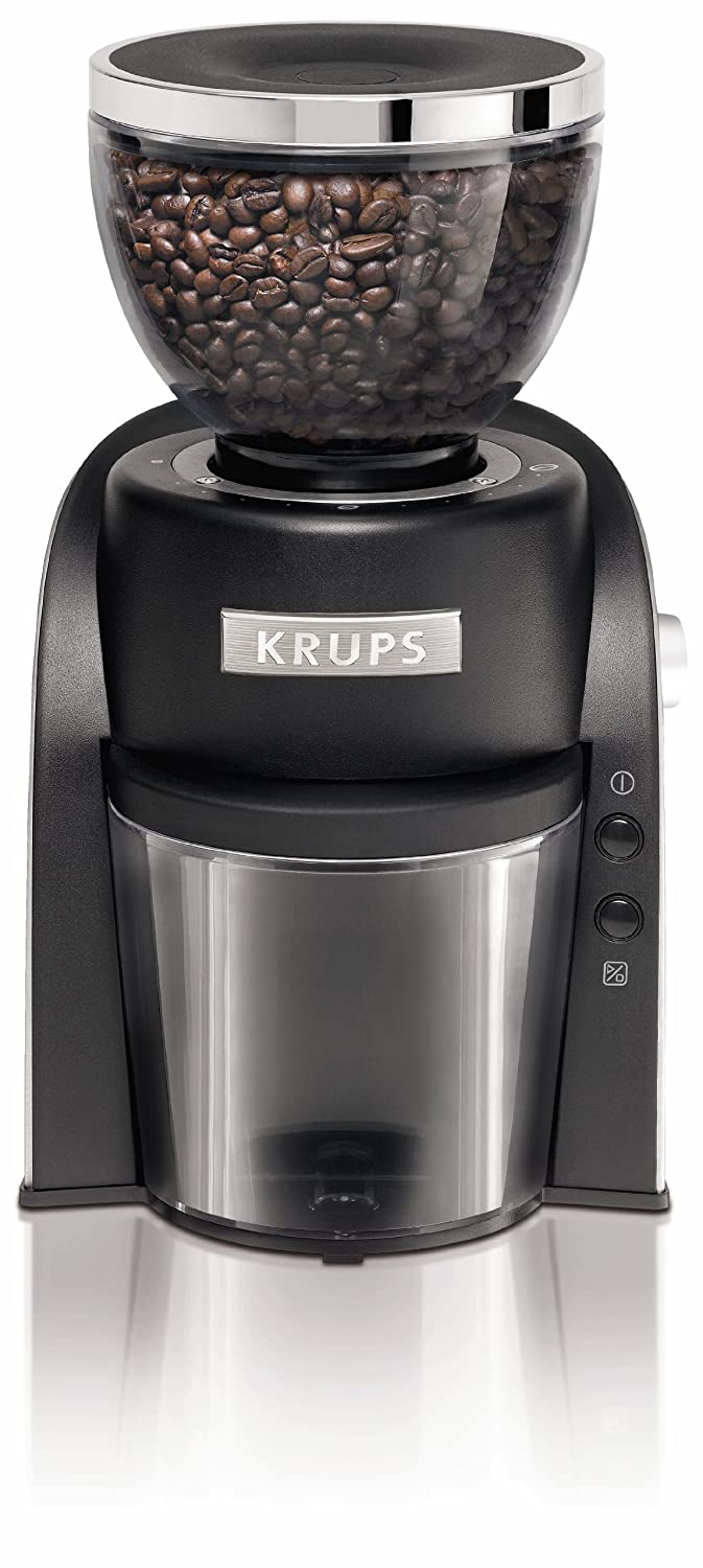 KRUPS GX6000 Burr Coffee Grinder with Grind Size and Cup Selection, 8-Ounce, Black Groupe SEB 8000034399
