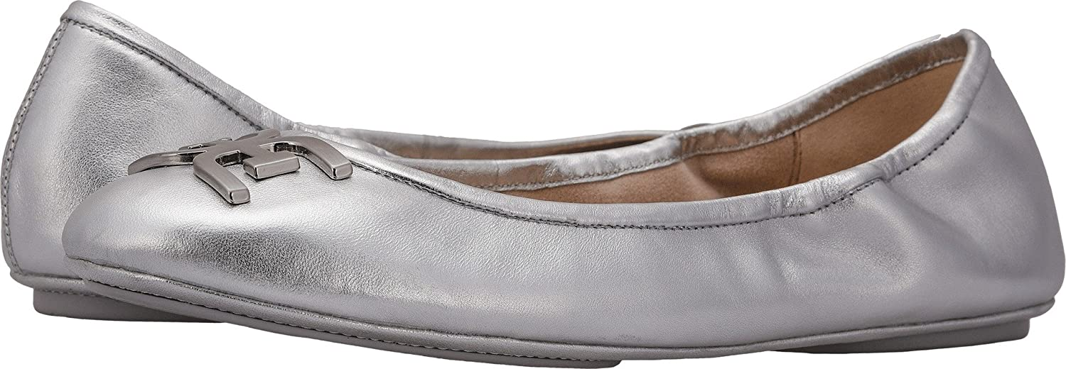 Sam Edelman Women's Florence Ballet Flat B077G4MWZ6 10 W US|Soft Silver Soft Metallic Sheep Leather