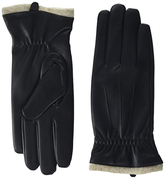 2cae1f6ebbc93 Womens Faux Leather Gloves Touchscreen - Acdyion PU Leather Winter Warm  Gloves Outdoor Driving Gloves Fleece Lining (Black, Large): Amazon.co.uk:  Clothing