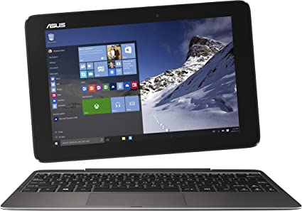 ASUS Transformer Book T100HA-C4-GR 10.1-Inch 2 in 1 Touchscreen Laptop (Cherry Trail Quad-Core Z8500 Processor, 4GB RAM, 64GB Storage, Windows 10), ...