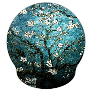 Mouse Pads for Computers Van Gogh Ergonomic Memory Foam Nonslip Wrist Support-Lightweight Rest Mousepad for Office,Gaming,Computer, Laptop & Mac,Pain Relief,at Home Or Work (Van Gogh Painting)