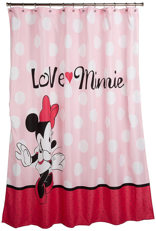 Disney Duschvorhang mit Mickey Maus und Minnie Maus, 177,8 x 182,9 ...