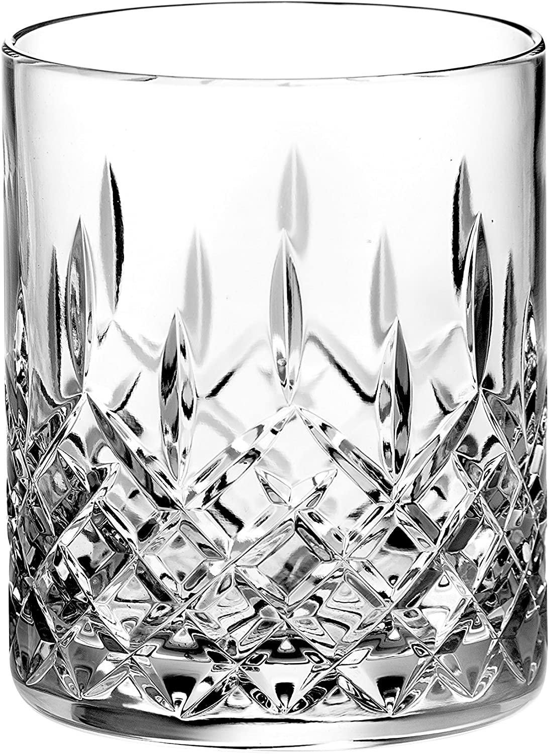 Crystal Double Old Fashioned - Set of 6 Glasses - Hand Cut DOF tumblers - Tumbler Glass For Whiskey - Bourbon - Water - Beverage - Drinking Glasses - 12 oz - Made in Europe By Barski