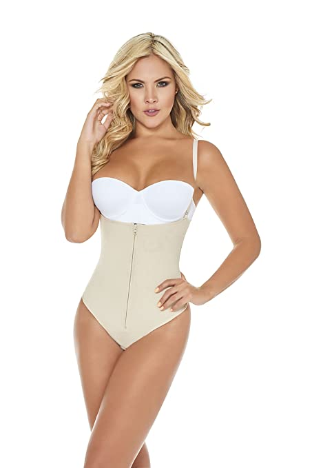 b1a80d4eb41ad Image Unavailable. Image not available for. Color  Body Shaper Woman  Powernet Butt-Lift Thong Shapewear Faja Reductora Bodysuit