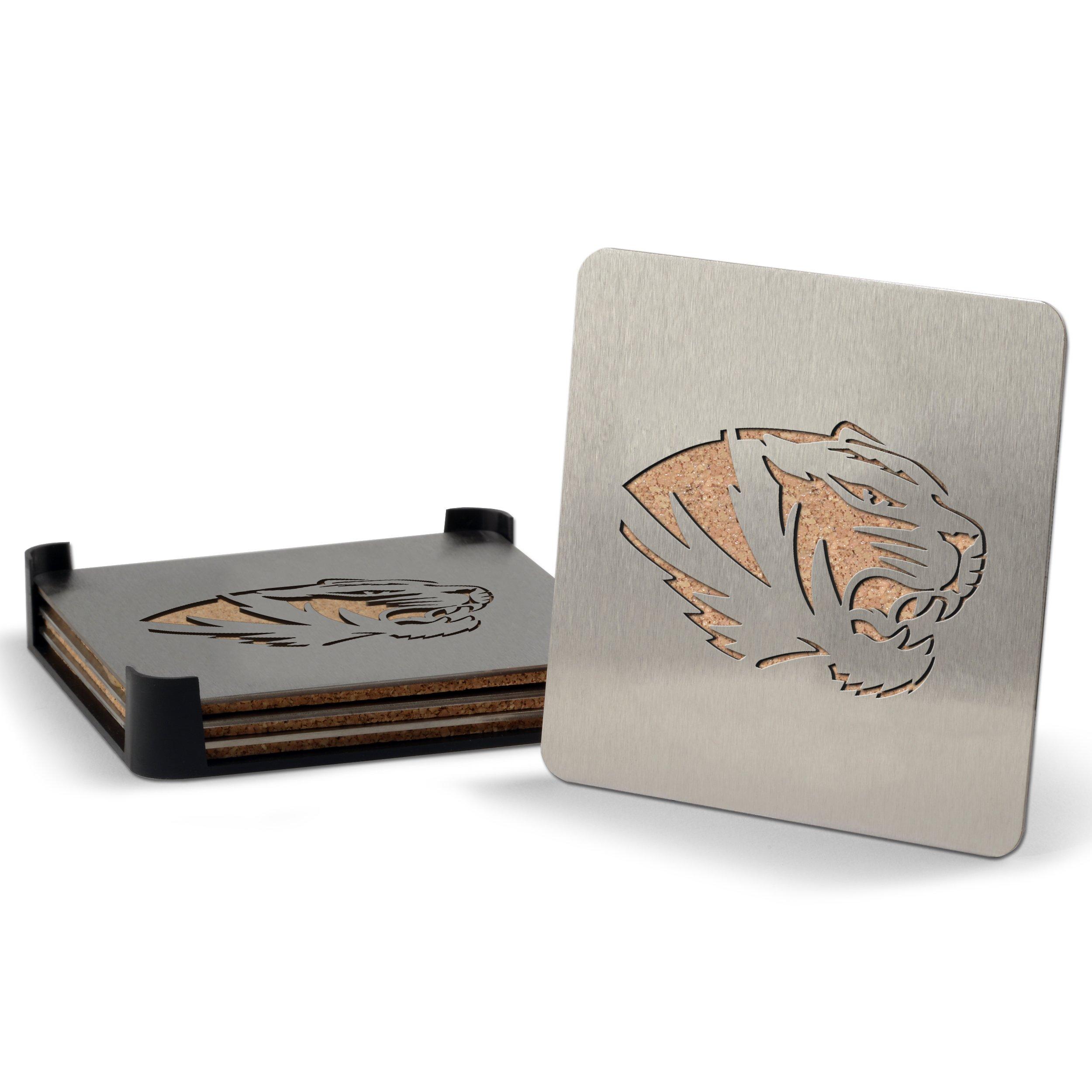 NCAA Missouri Tigers 4-piece Boaster Drink Coaster
