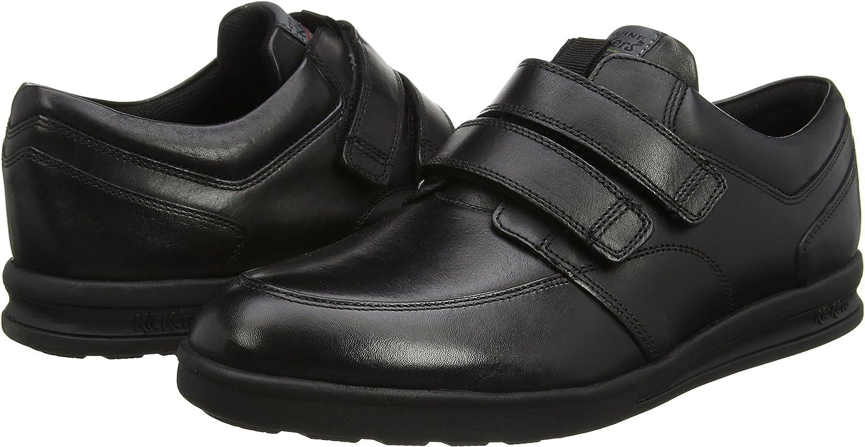 Mocassins Homme Kickers Troiko Strap Black Leather
