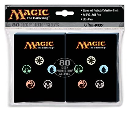 Magic: the Gathering Utra Pro The (MTG) MANA SYMBOLS Back Deck Protectors (80 Sleeves)
