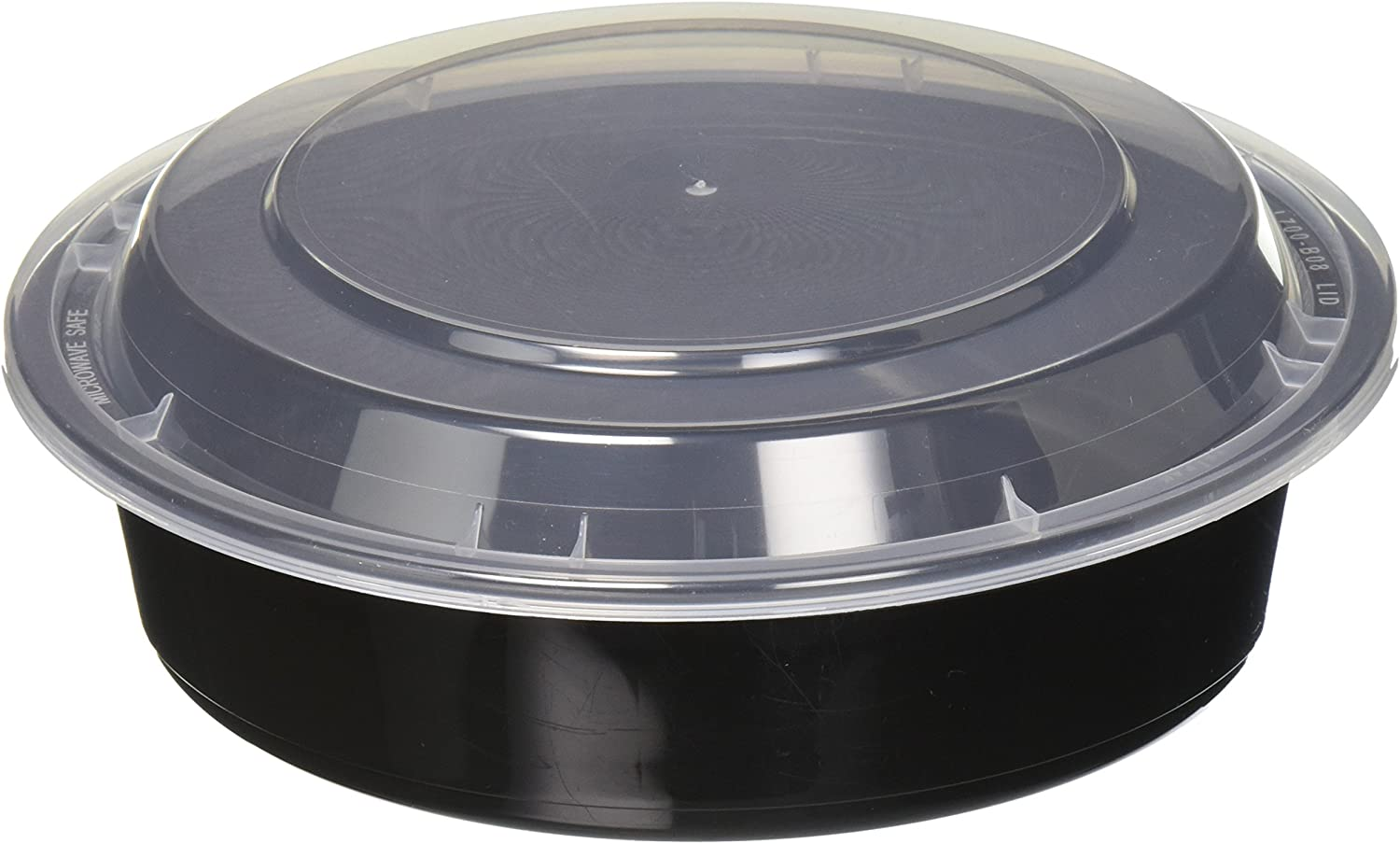 Reditainer - 16 Round Food Storage Containers with Lids - Microwaveable & Dishwasher safe (24 Ounce)
