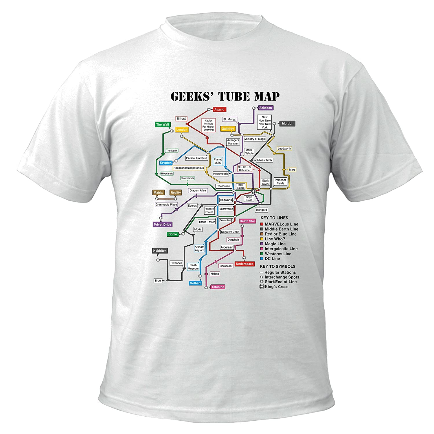 Geeks Tube Map T-shirt