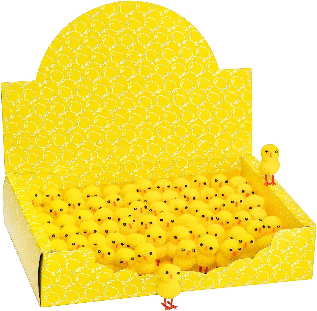 Mini Oster Küken Chenille Osterküken Deko Küken Nestküken Tisch Deko 6er 4cm