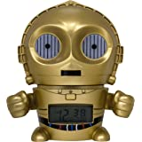 BulbBotz Star Wars 2021418 C3PO Kids Night Light Alarm Clock with Characterized Sound | gold/yellow | plastic | 5.5 inches tall | LCD display | boy girl | official