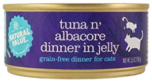 Natural Value Cat Food Tuna 'N' Toppings With Albacore (Grain Free), 5oz (Pack Of 24)