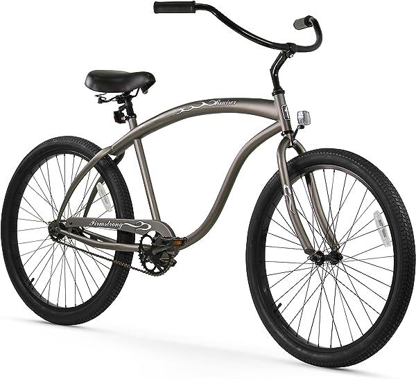 Firmstrong Bruiser Man Seven Speed Beach Cruiser Bicycle, 26-Inch