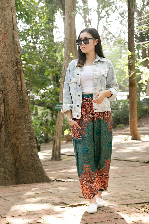 Lofbaz Womens Bohemian Pants Harem Clothing Hippy Boho Style