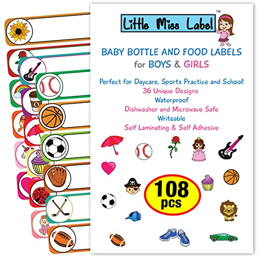 Dishwasher safe Labels Name Stickers Name Labels Waterproof Labels Baby Bottle Labels Customized Labels Daycare Labels