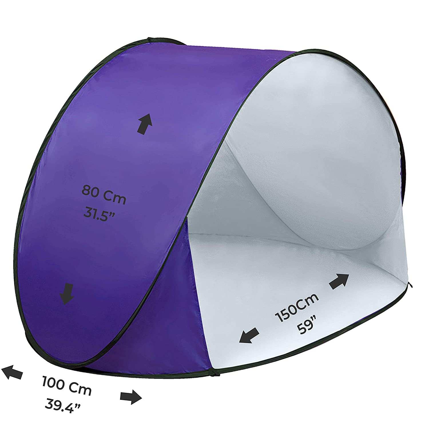 Thermalabs Pluto Purple Beach Tent: An amazing accessory for your kids comfort From Wind /& Rain Deluxe lightweight Toddlers tent with carrying bag Keep Your Baby Away From the Heat of the Sun