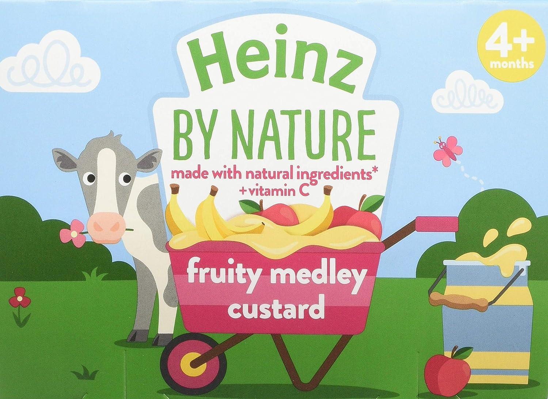 Heinz Fruit Medley Custard Dessert Pot, 4 x 100 g (Pack of 3) The Kraft Heinz Company 76011122