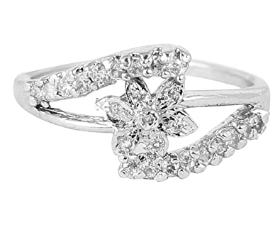 a254fc1e2 Buy Touchstone Golden Rhinestone Ring for Women Online at Low Prices ...