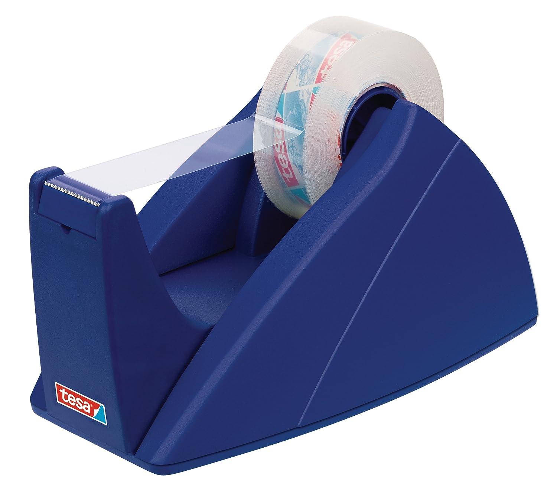 tesa UK Easy Cut Desk Dispenser  for Adhesive Tape, 19 mm x 33 m Rolls - Blue 57421-00002-02