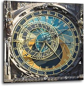 3dRose DPP_81259_3 Astronomical Clock, Orloj, Prague, Czech Republic EU06 THA0021 Tom Haseltine Wall Clock, 15 by 15-Inch