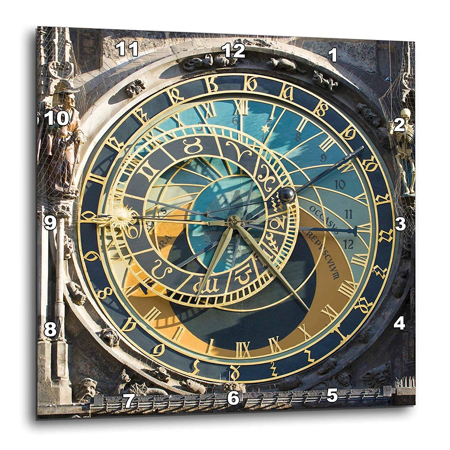 Amazon.com: 3dRose Danita Delimont - Clock Towers - Astronomical Clock, Orloj, Prague, Czech Republic - EU06 THA0021 - Tom Haseltine - 15x15 Wall Clock ...