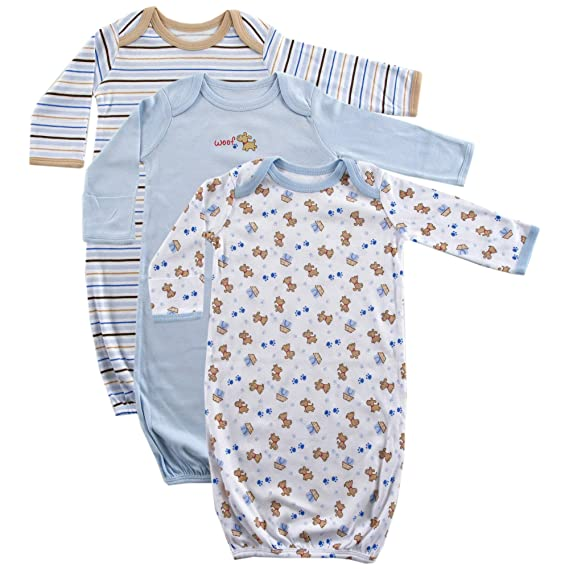 33ffb2a7d Luvable Friends 3-Pack Rib Knit Infant Gowns