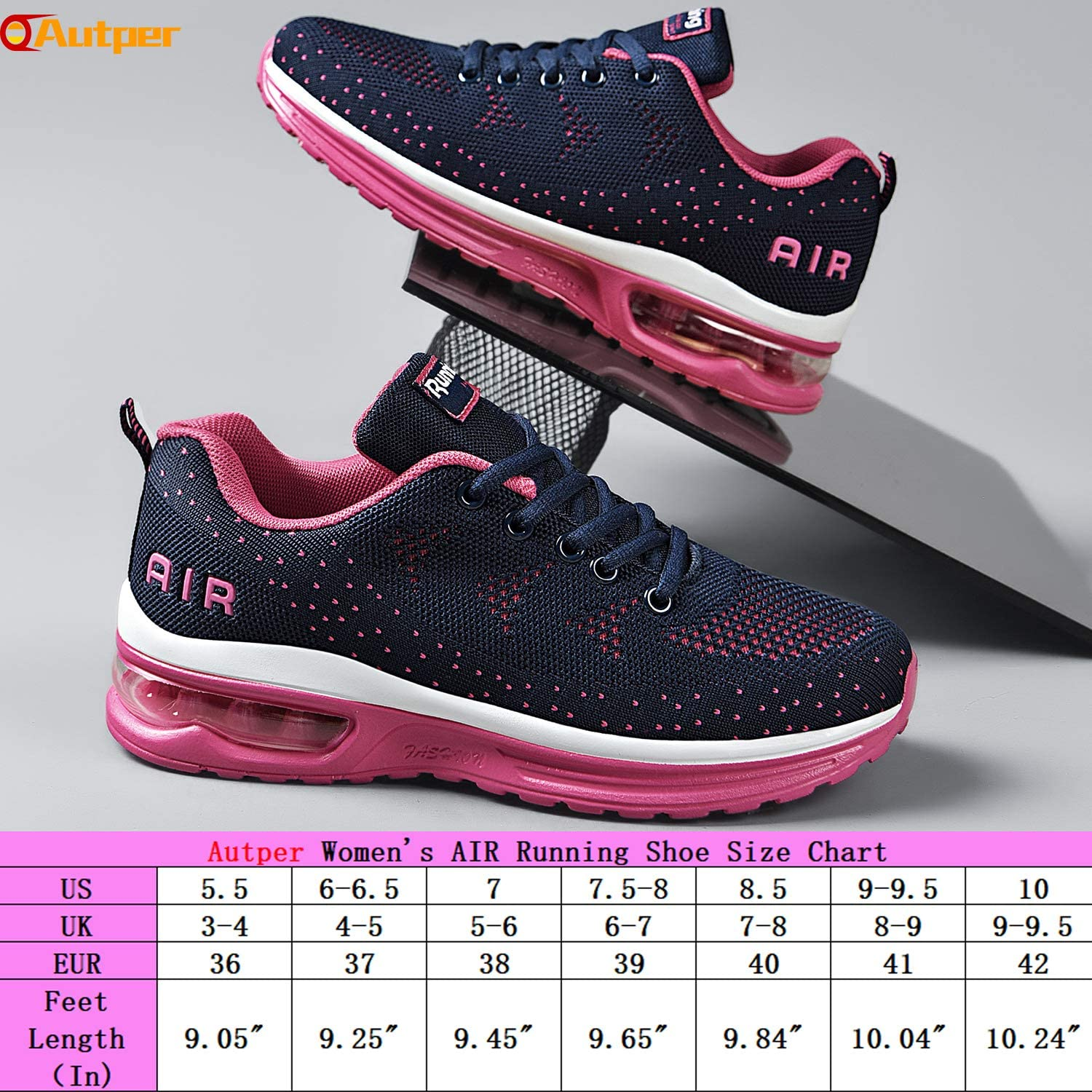 Autper Womens Air Athletic Tennis Running Sneakers Lightweight Sport Gym Jogging Breathable Fashion Walking Shoes US 5.5-10 /…