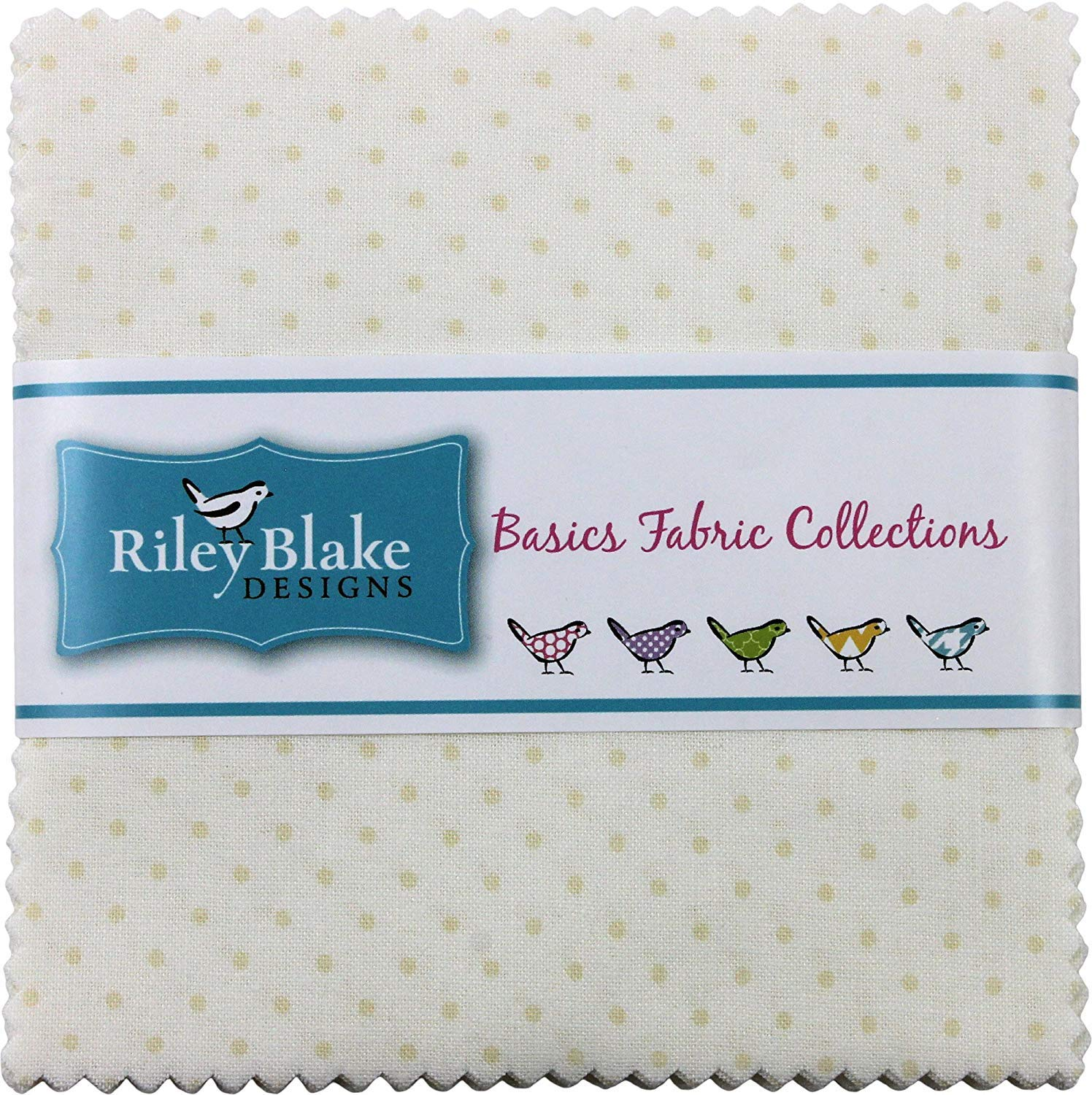 Swiss Dot on Cream 5 Stacker 42 5-inch Squares Charm Pack Riley Blake Designs 5-600-01-42