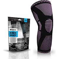 POWERLIX Compression Knee Sleeve - Best Knee Brace for Men & Women - Knee Support for Running, Basketball, Weightlifting, Gym, Workout, Sports - for Best FIT Check Sizing Chart
