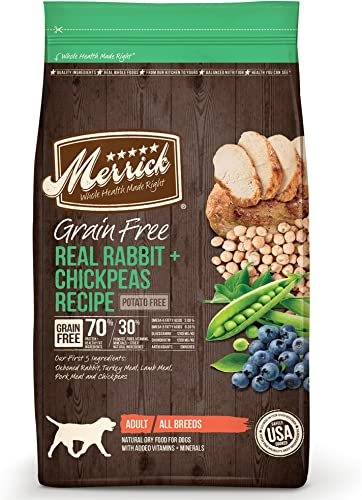 Merrick Grain Free Dry Dog Food Recipes, Real Rabbit, 12 Pound