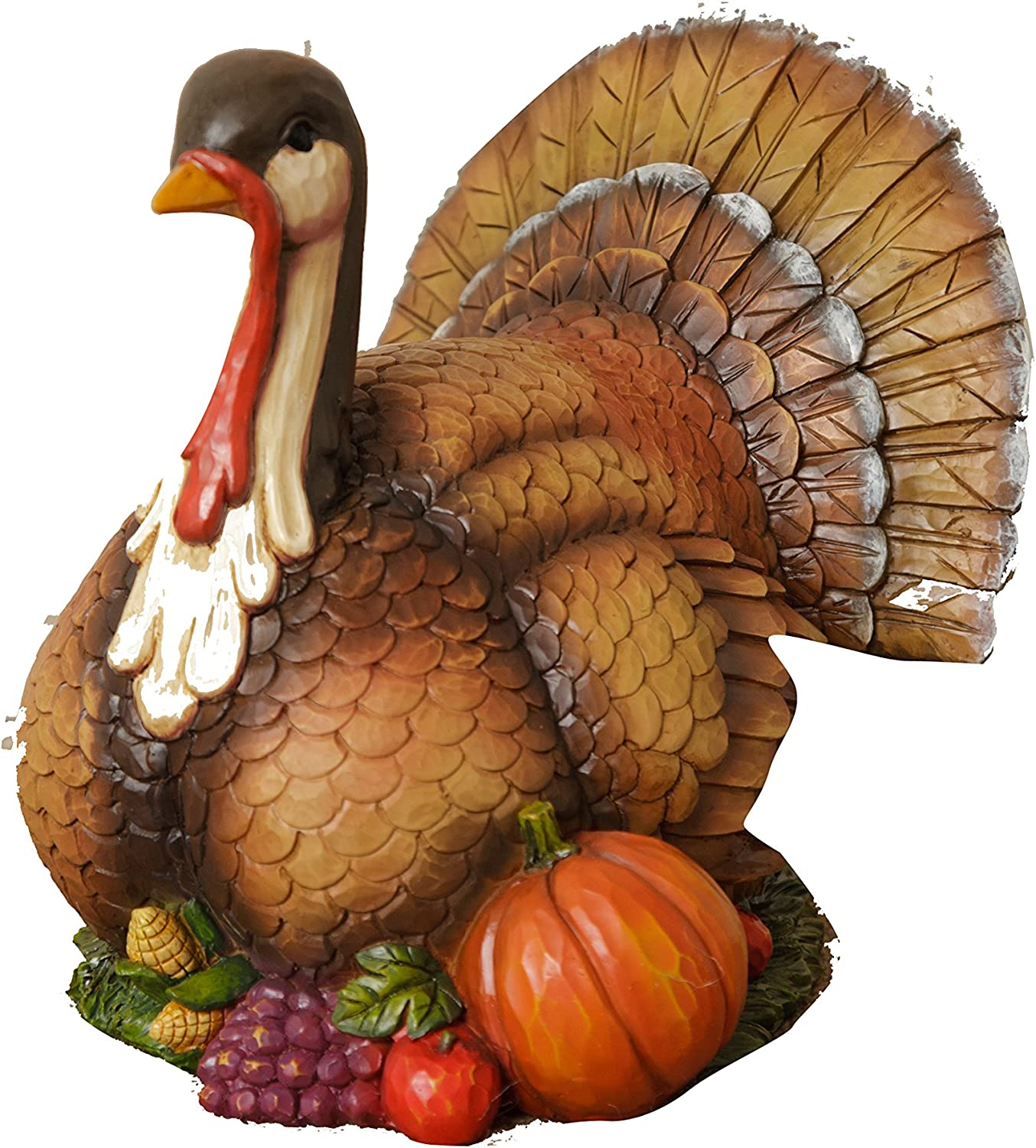"Your Heart's Delight 6RS334 8.75"" x 6.75"" x 7.5"" Resin Thanksgiving Turkey Table Decoration"