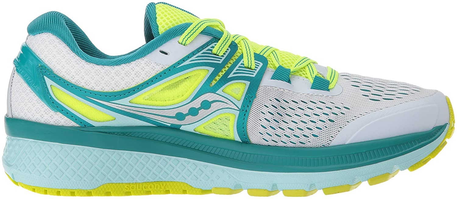 Saucony Women's Triumph Iso 3 Running Sneaker B01GILHM50 6 B(M) US|White/Teal/Citron