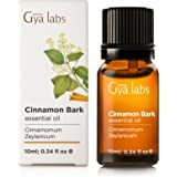 Cinnamon Bark Essential Oil 10 ml - 100% Pure, Undiluted, Natural & Therapeutic Grade for Aromatherapy, Skin and Relaxation - Gya Labs
