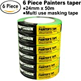 6 roll ,Painters Tape,paint roller,masking tape,paint masking tape,0.94-Inch by 54.6 Yards, 50002A