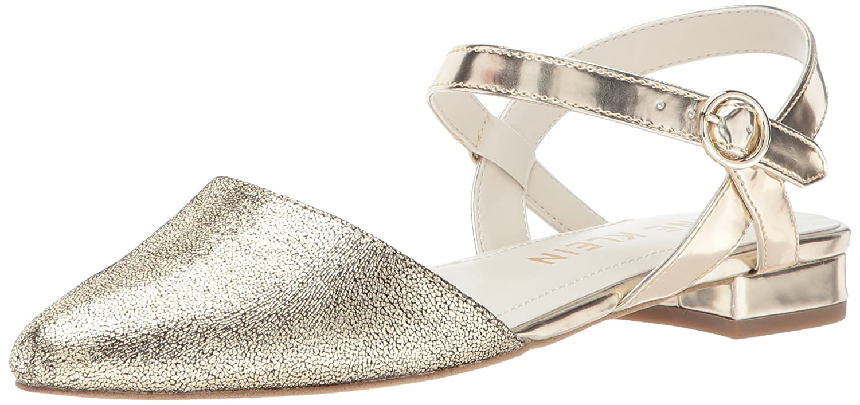 Anne Klein Women's Odell Leather Ballet Flat B0711CR61B 10.5 B(M) US|Gold