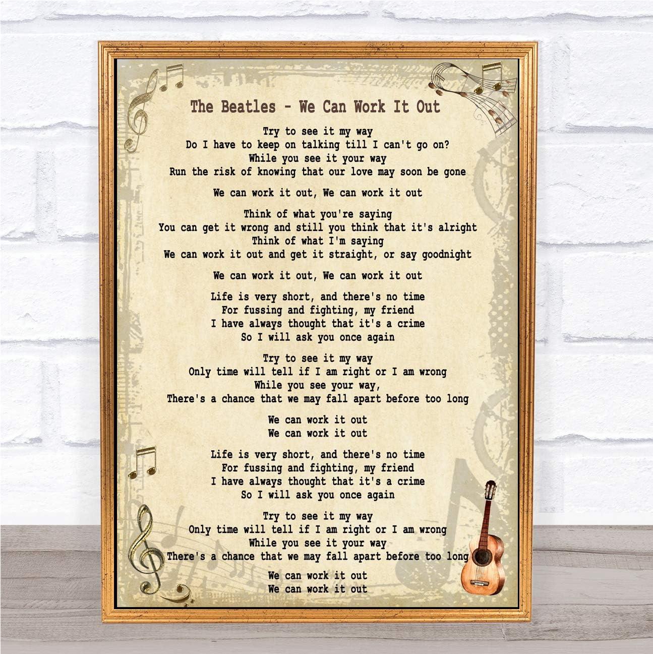 We Can Work It Out Beatles Lyrics - Photos Idea