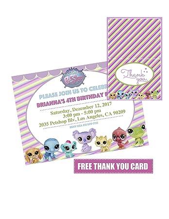 Amazoncom 14 Littlest Pet Shop Birthday Party Invitation