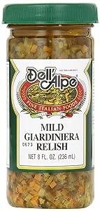 Dell Alpe, Giardinera Relish Mild, 8 oz
