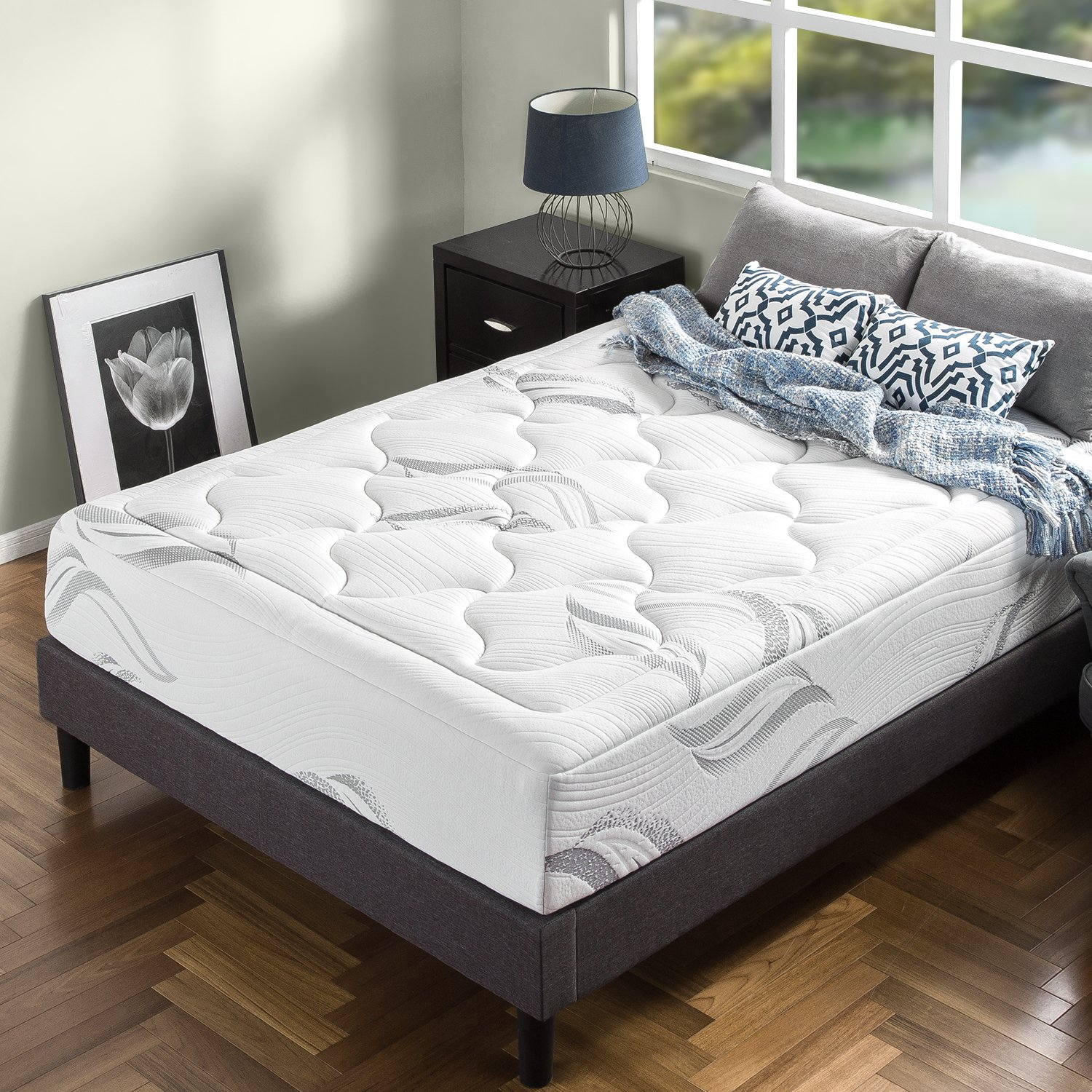 Amazon com  Zinus Memory Foam 12 Inch   Premium   Cloud like Mattress   Queen  Kitchen   Dining. Amazon com  Zinus Memory Foam 12 Inch   Premium   Cloud like