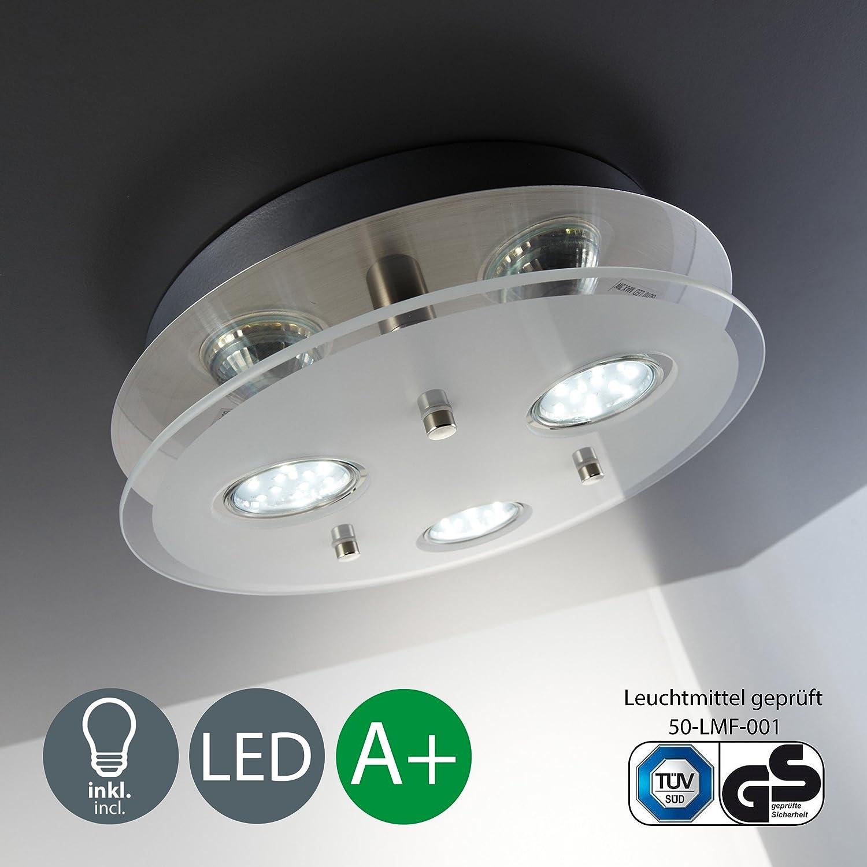LED Deckenleuchte I Decken-Lampe für\'s Wohnzimmer I 3 flammiger ...