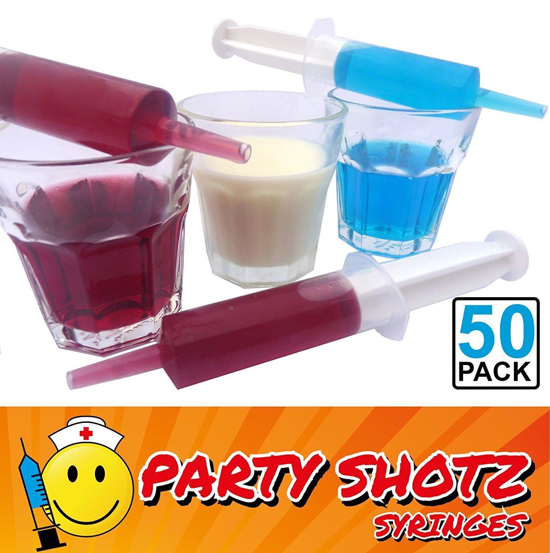 50 Pack Party Shotz Jello Shot Syringes (Medium 1.5oz With